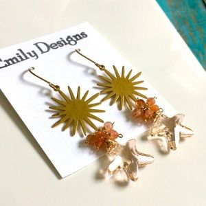 Swarovski starfish sun earrings